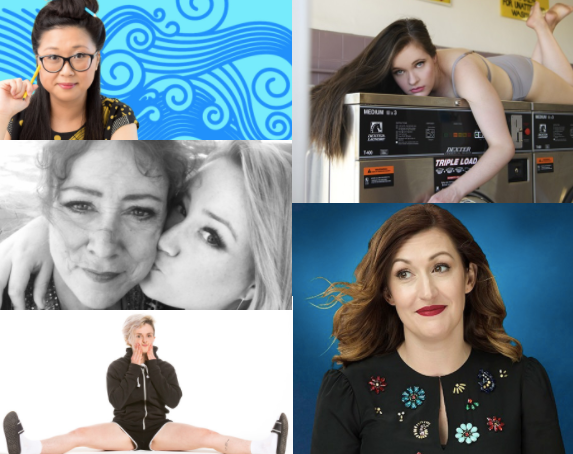 From top left (clockwise): Jennifer Wong; Alice Tovey; Celia Pacquola; Demi Lardner; Rosie Waterland.