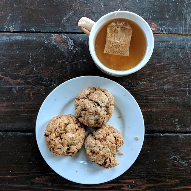 Our #autumn #scones: I'm debating calling them #applepie or #apple - #cinnamon. 🤔 Starting 01.10 you can get them @biocompanyofficial and decide for yourself! 🍁🍁🍁🍃🍂