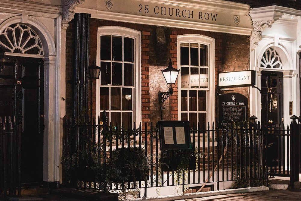 28 Church Row - 28 Church Row, located in one of Hampstead's prettiest streets, famed for its fine display of Georgian houses and postcard vistas, is a restaurant brought to you by the previous management team of the Old White Bear in Hampstead.