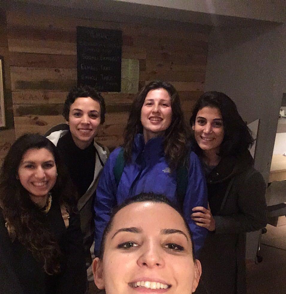 Irem, Ülkü, Nermin, Gülin ve Bükra (left to right)