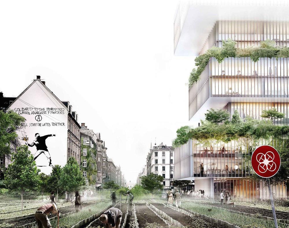NØRREBROGADE IN COPENHAGEN IN 2050