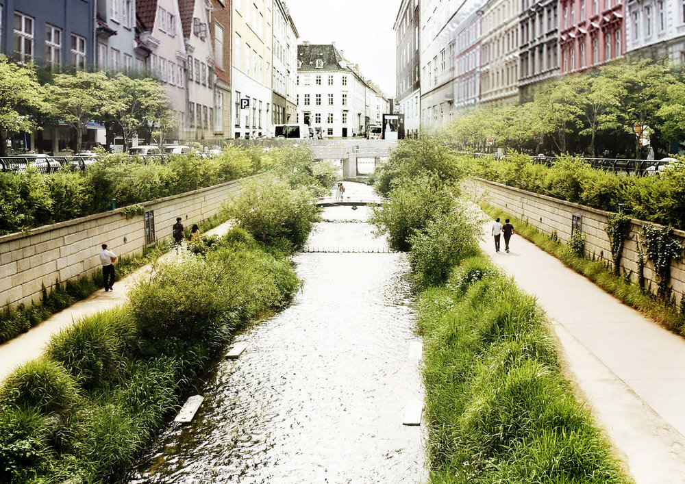 THE CANAL CITY IN COPENHAGEN IN 2050