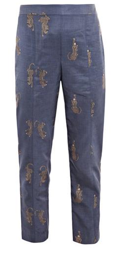 Leopard-Print Trousers