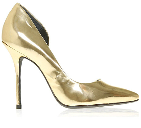 Kurt Geiger Gold Pumps