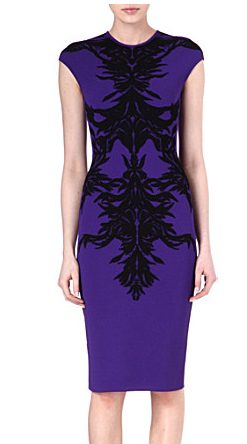Purple Alexander McQueen party dress