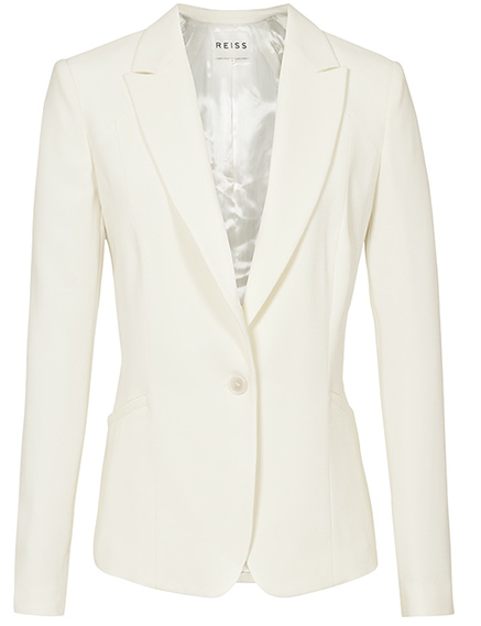 Tailored off-white suit jacket