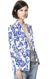 China Print Blazer from Zara