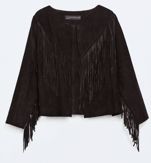 Fringed Leather Jacket