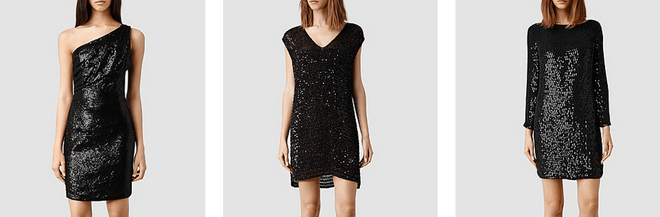 All Saints Black Glitter