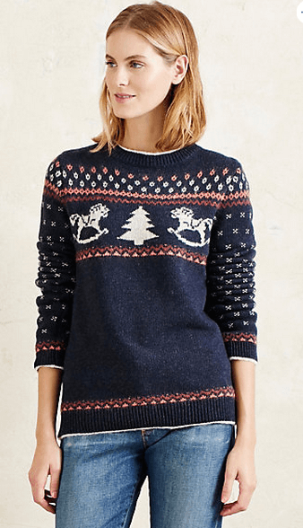 Festive Anthropologie Jumper