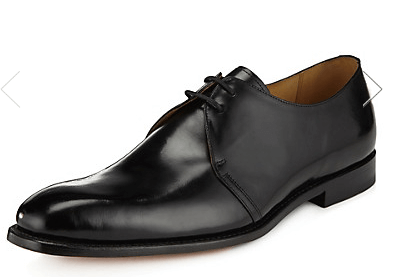 M&S Derby Black Shoes