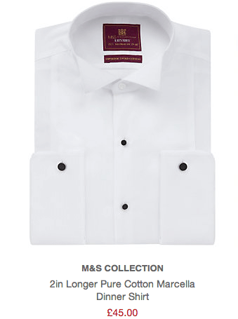 M&S Formal White Shirt