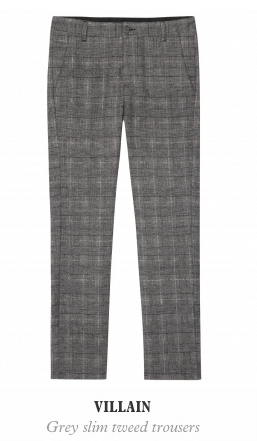 Villain Grey Tweed Trouser