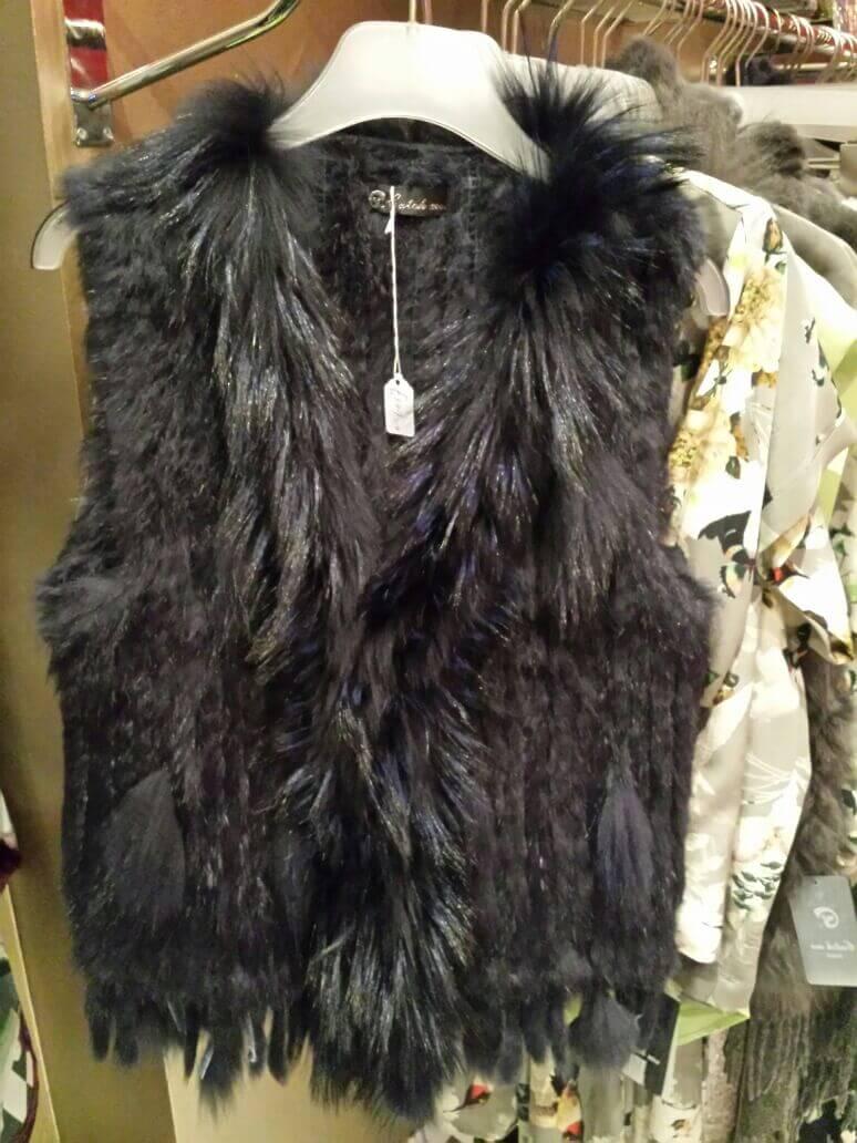 Black Fur Gilet