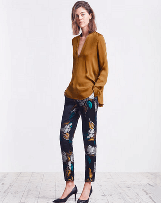 Jigsaw Patterned Trousers