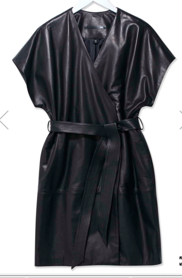 Judo Leather Wrap Dress