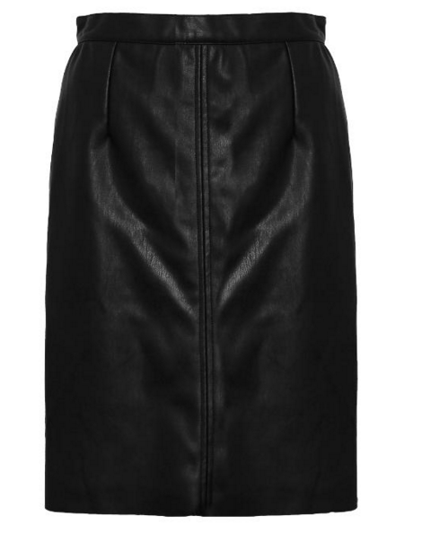 French Connection Leather Rocker Skirt