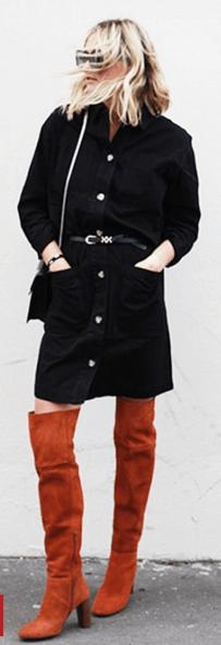 Blogger tan boots