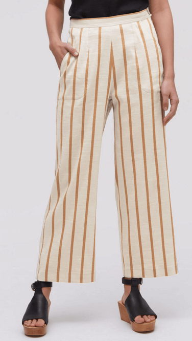 Linen Stripe Trousers
