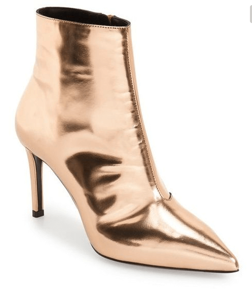 Gold Mirror effect boots