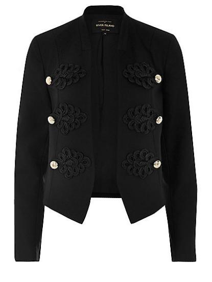 Black Smart Buttoned Blazer