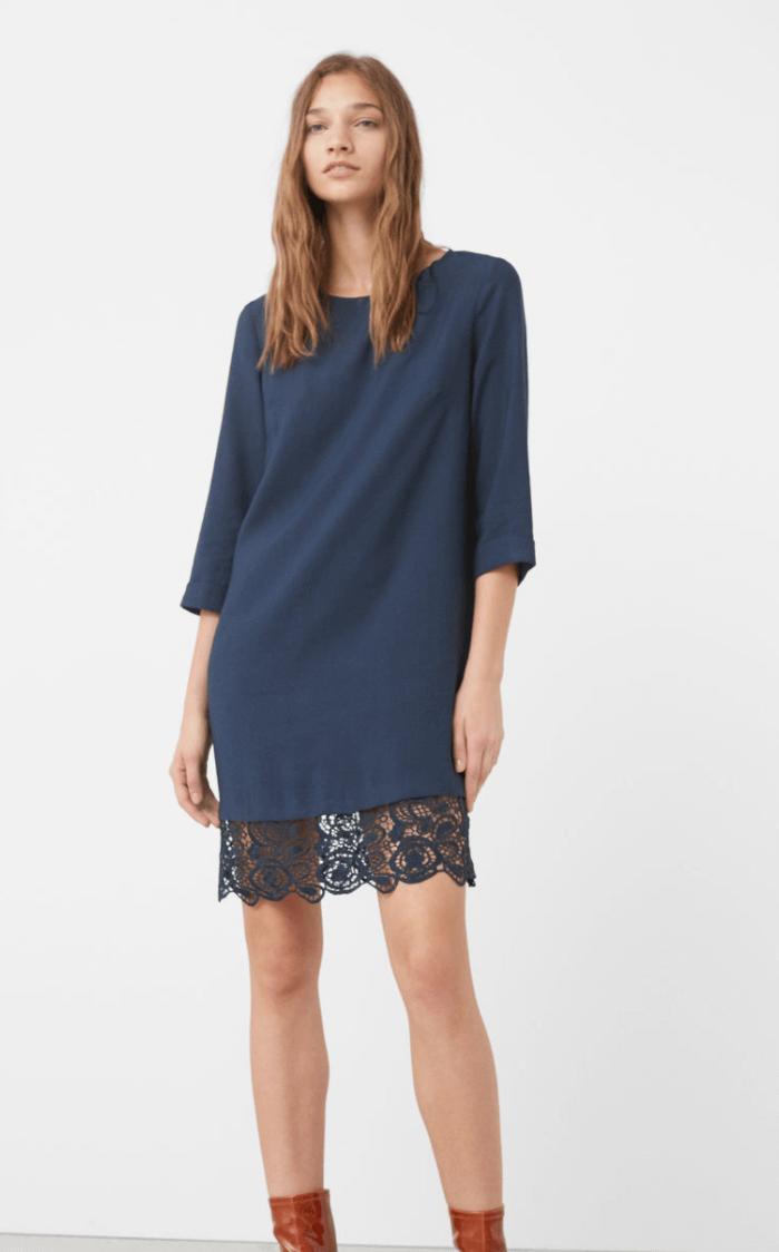 Lace Hem Dress