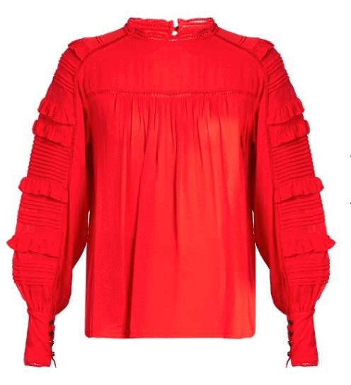 Red Ruffle Shirt