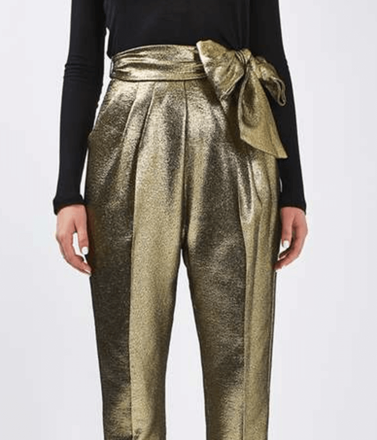 Gold Lame Trousers