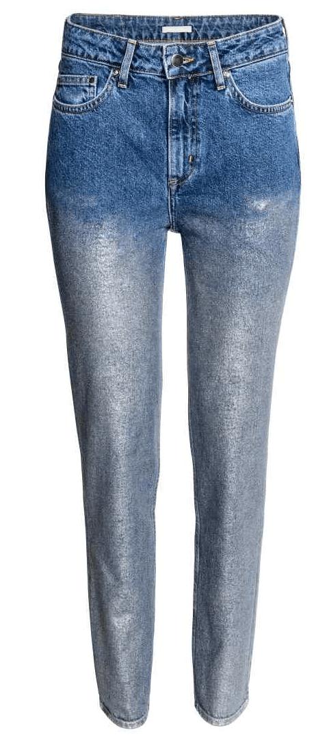 H&M Coated Jeans