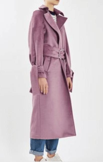 Topshop Pink Coat