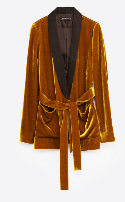 Zara Velvet Blazer