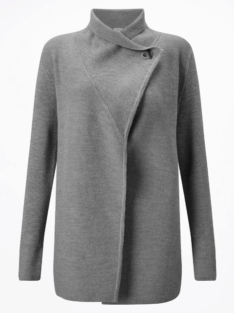 Jigsaw Long Grey Cardigan
