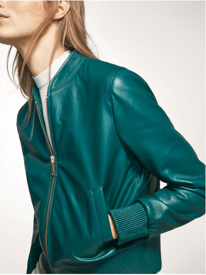 Turquoise Bomber