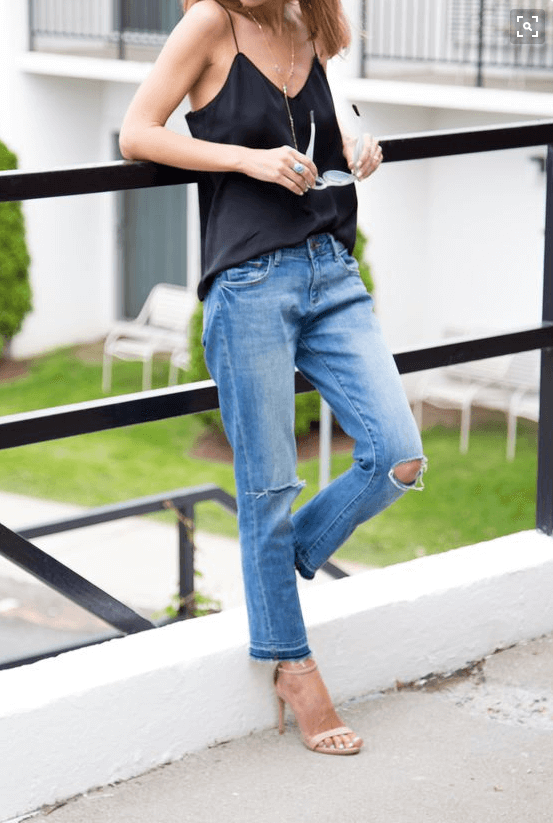Camisole and jeans