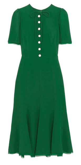 Dolce & Gabanna green event dress