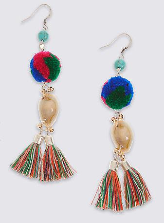 M&S pom pom earrings