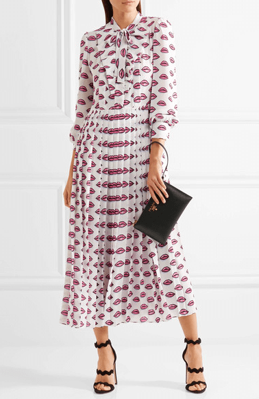 Prada lip print dress