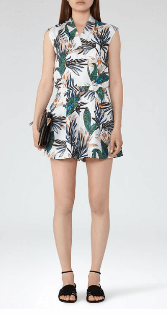 Reiss palm print playsuit