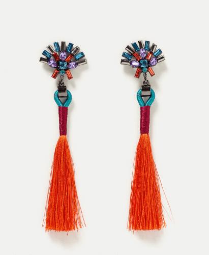 Zara pom pom earrings