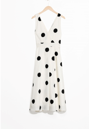 Large polka dot print dress