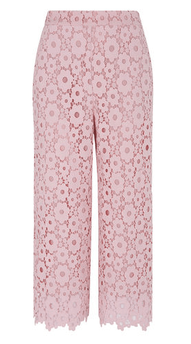 Pink lace trousers