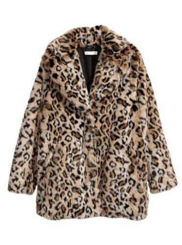 Faux fur leopard print
