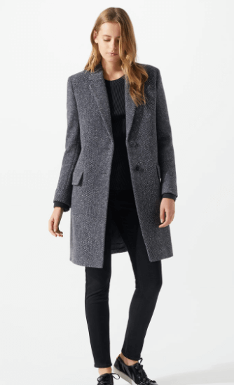 Navy tweed coat
