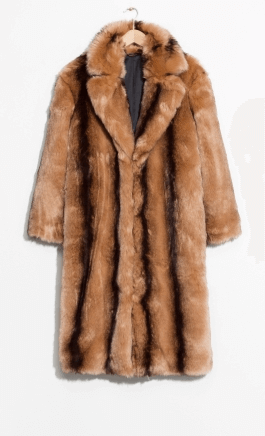 Other stories faux fur coat