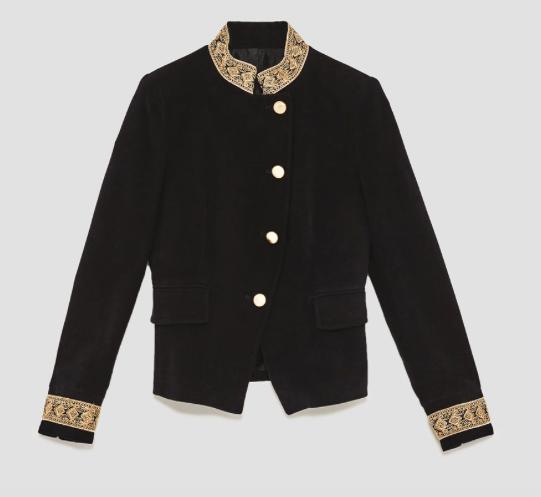 Zara velvet jacket