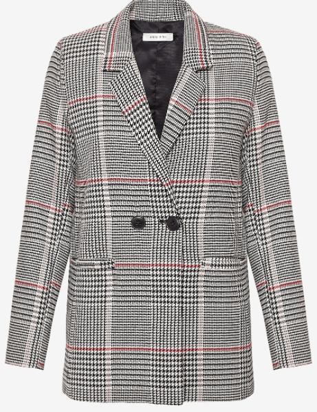 Anine Bing check blazer