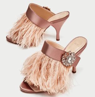 Zara high heeled mules