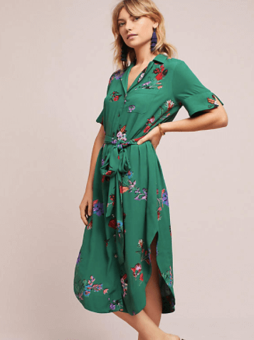 Jenny Floral Shirt Dress