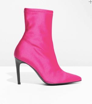 Neon pink sock boot