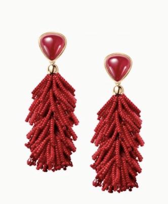 Burgandy earrings